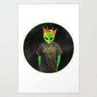 Kush Alien Tee by Igh Kihl Media Art Print
