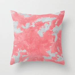 pink marble pattern Throw Pillow