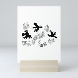 Crow, Crow, Scorpion, Crow Mini Art Print
