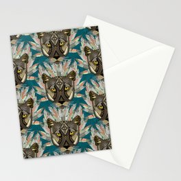 native mountain lion blue Stationery Cards
