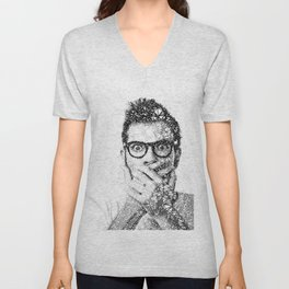 Geometric man Unisex V-Neck