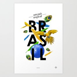BRASIL Feather - CAPOEIRA RULES Art Print