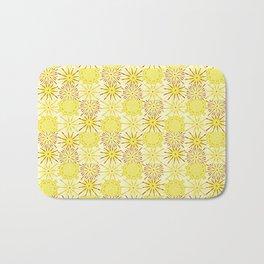 A starburst of sunflowers Bath Mat