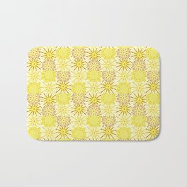 A starburst of sunflowers Bath Mat