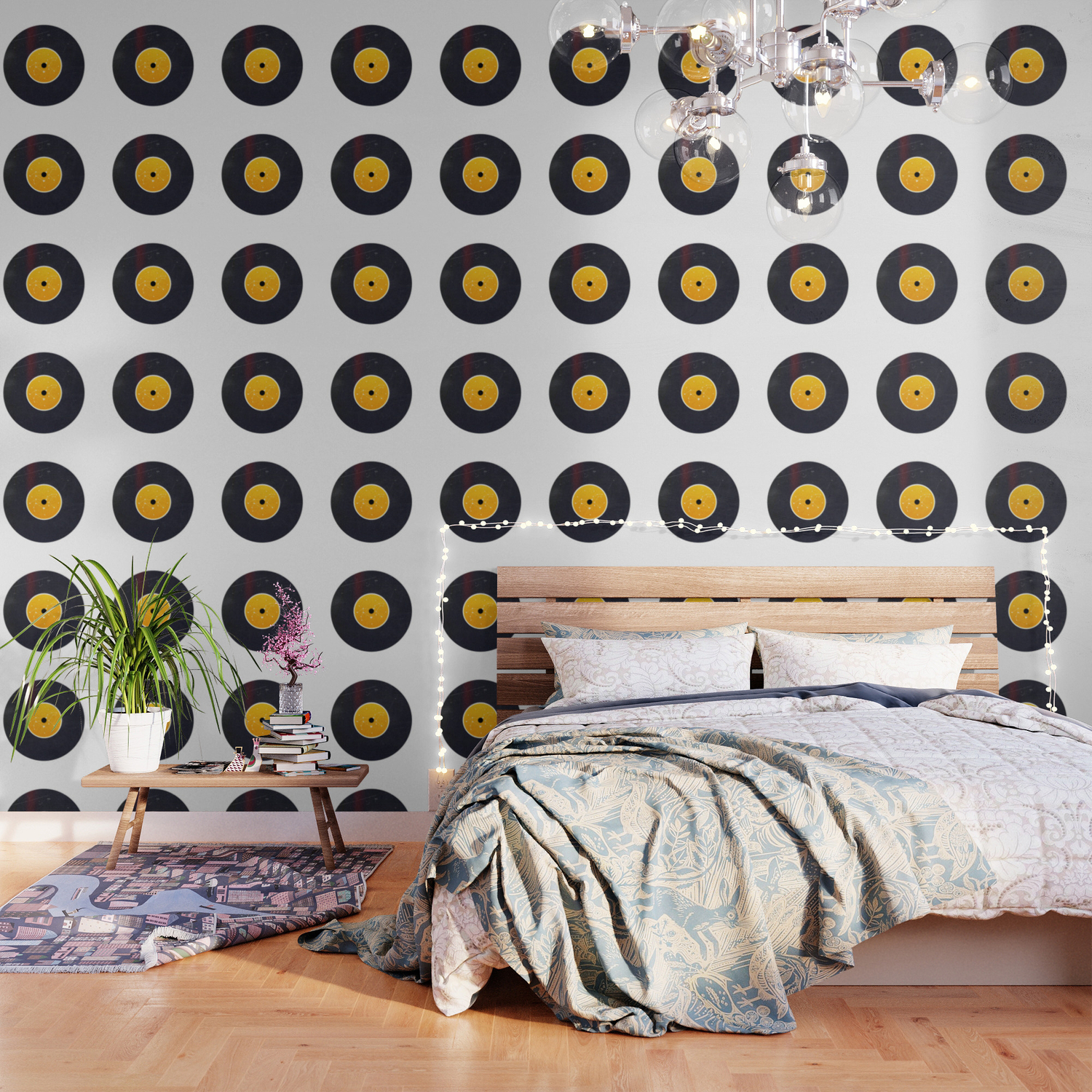 Vinyl Record Star Sign Art Leo Wallpaper By Oldurbanfarmhouse