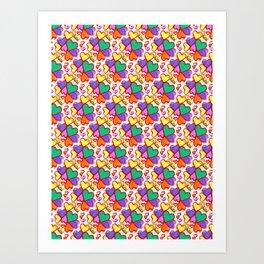 Color Hearts Art Print