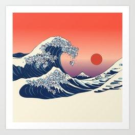 The Great Wave of Shih Tzu Art Print