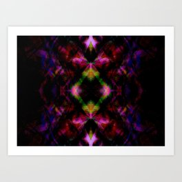 Cute Neon Glow Pattern  - Minimal Art Print