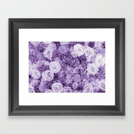 bouquet ver.purple Framed Art Print