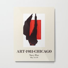 Robert Motherwell. Exhibition poster for Chicago International Art Expo, 1981. Metal Print