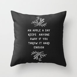 An Apple A Day BW Throw Pillow