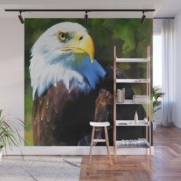 Eagle in Portrait Wall Mural