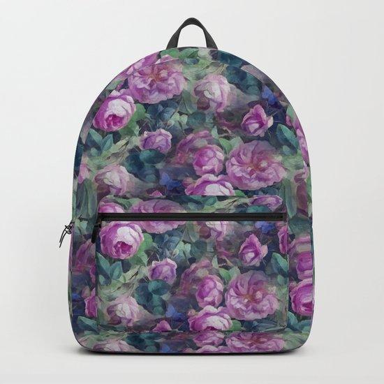 Floral pink roses pattern Backpack