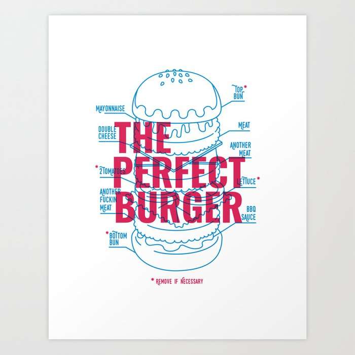 The Perfect Burger Art Print