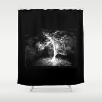 ghost Shower Curtains featuring Ghost by Care Halverson