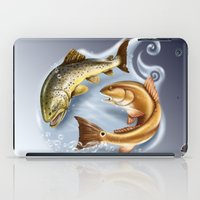 trout iPad Cases featuring Trout and Redfish  by Mantas