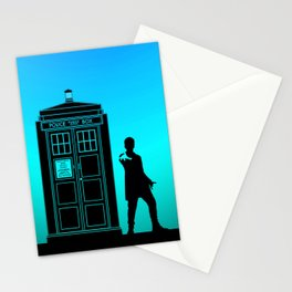 Tardis With The Twelfth Doctor Stationery Cards