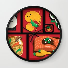 Sushi Bento Box Wall Clock