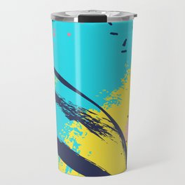 Yellow contrast splash Travel Mug