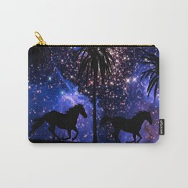 Galloping horses under starry sky Carry-All Pouch