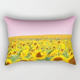 Blushing Sunflower Feilds Rectangular Pillow