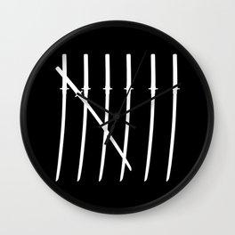 The Samurai Checklist Wall Clock