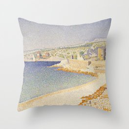 The Jetty at Cassis, Opus 198 Throw Pillow