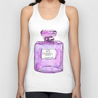 perfume Tank Tops featuring perfume purple by watercolor & ink