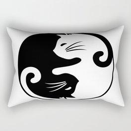 Yin yang cats Rectangular Pillow