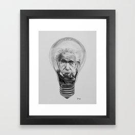 Einstein Light Bulb  Framed Art Print