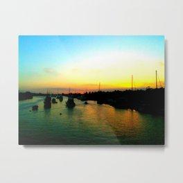 Sunset over Balboa Island Metal Print