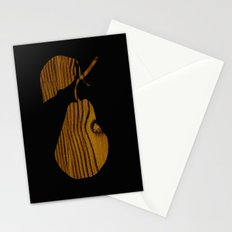 Wooden Pear Stationery Cards