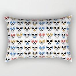 Cute Skulls No Evil II Pattern Rectangular Pillow