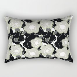 Mysterious Night - Flowers by SewMoni Rectangular Pillow