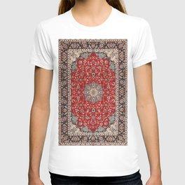 Fine Silk & Wool Isfahan Persian Rug Print T-shirt
