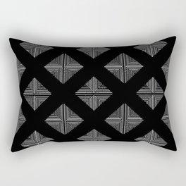 Modern Black Geometrical Pattern Design Rectangular Pillow