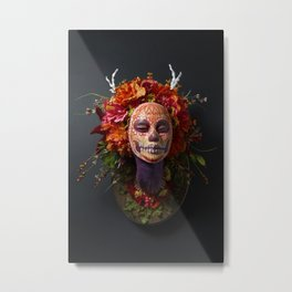 Summer Muertita Front Metal Print
