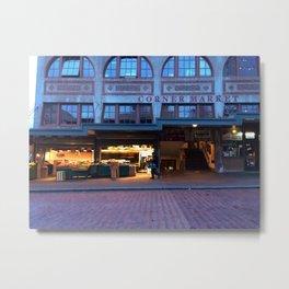 corner market morning Metal Print