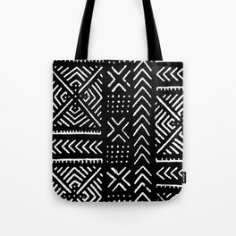 Line Mud Cloth // Black Tote Bag