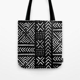 Line Mud Cloth // Black Tote Bag