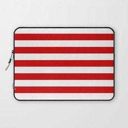 austria bahrain indonesia monaco peru tonga turkey switzerland flag stripes Laptop Sleeve