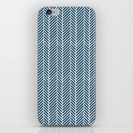 Herringbone Navy Inverse iPhone Skin