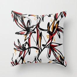 Tropical white Throw Pillow