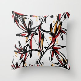 Tropical white Throw Pillow