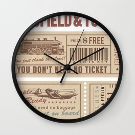 Mansfield&Turner - People Get Ready Wall Clock