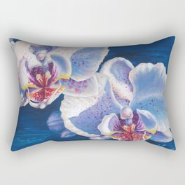Two White Orchids Rectangular Pillow