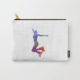 Woman in roller skates 05 in watercolor Carry-All Pouch