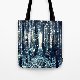 Magical Forest Teal Gray Elegance Tote Bag