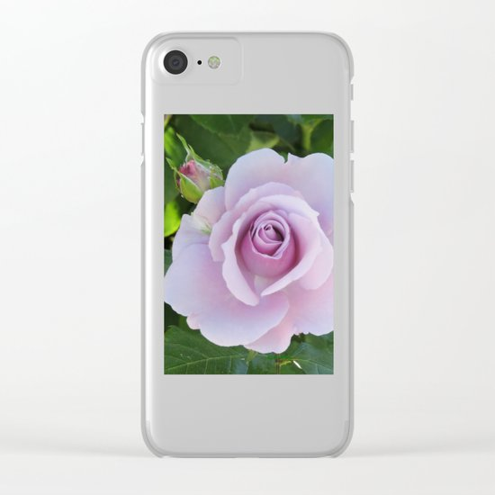 Bloom and Buds Paling to Purple Clear iPhone Case