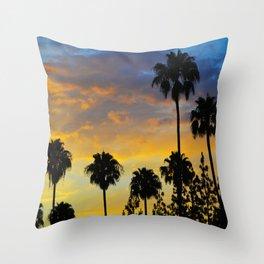 Palm Trees LA Throw Pillow